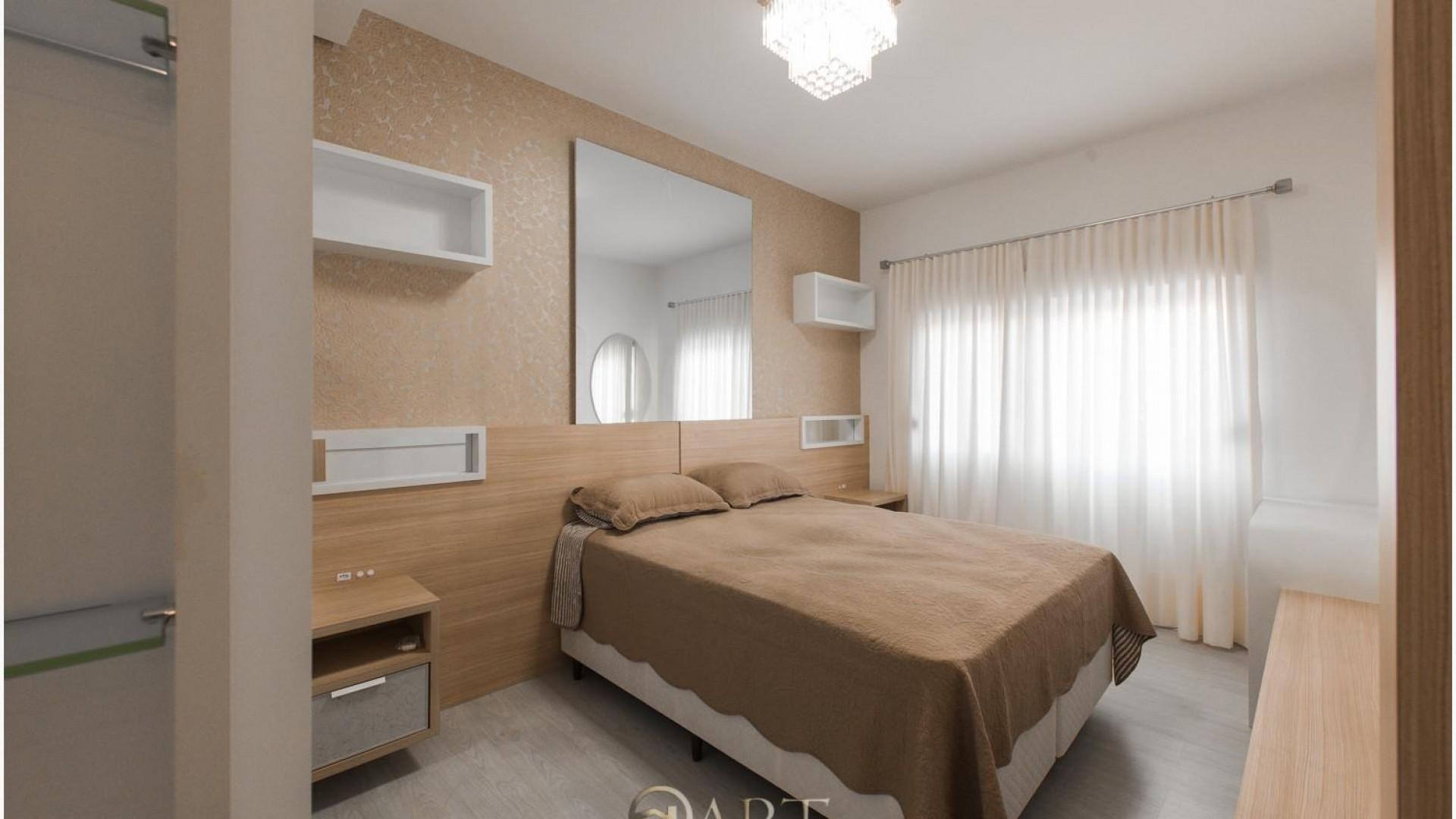 Apartamento com 3 suítes abastecido com Água Termal em Termas do Gravatal - Foto 11 Closet atras da cama e sacada